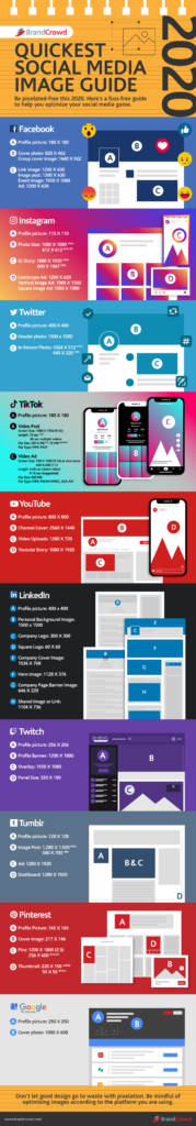 Quickest Social Media Image Guide 2020 - BrandCrowd Blog