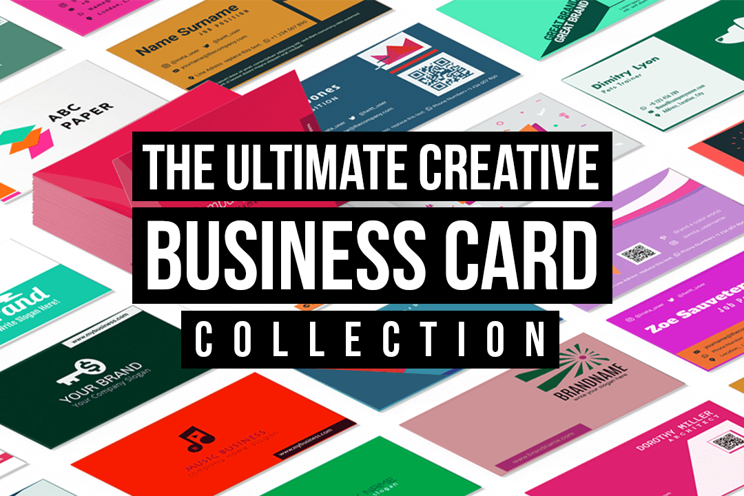 the-title-is-put-on-a-background-of-different-business-card-mockups