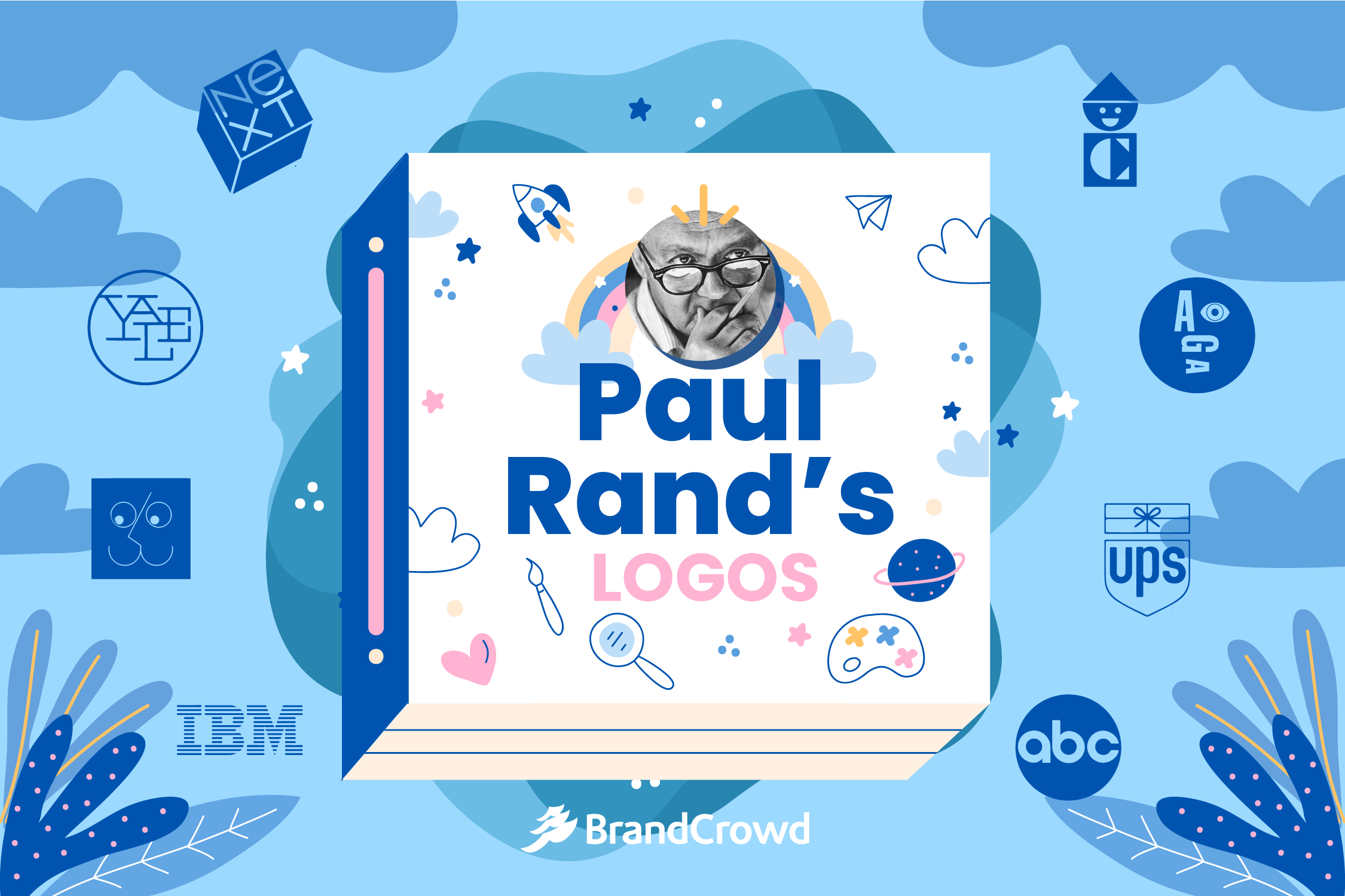 the-header-is-color-blue-with-the-header-featuring-the-blog-title-paul-rands-logos-and-a-photo-of-the-iconic-designer