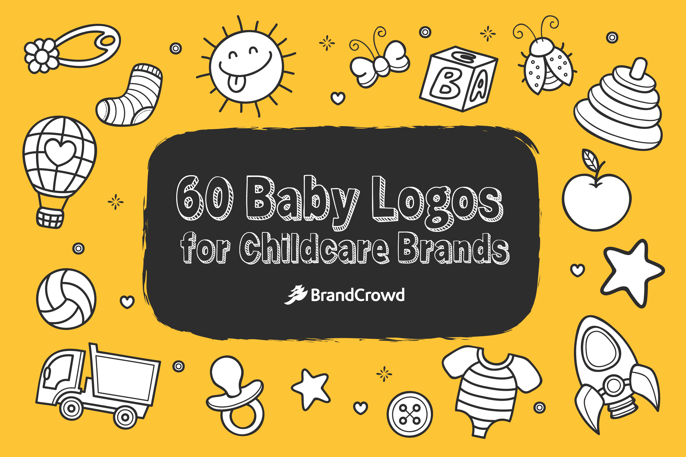 the-header-design-contains-drawings-of-baby-related-symbols-like-onesies-socks-pcifiers-and-more-the-blog-title-typography-is-in-the-center-of-the-image