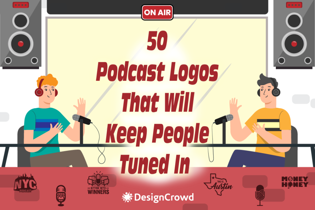 50 Podcast Logos That Will Keep People Tuned in