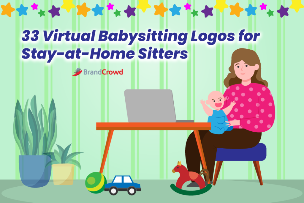 33 Virtual Babysitting Logos for Stay-at-Home Sitters