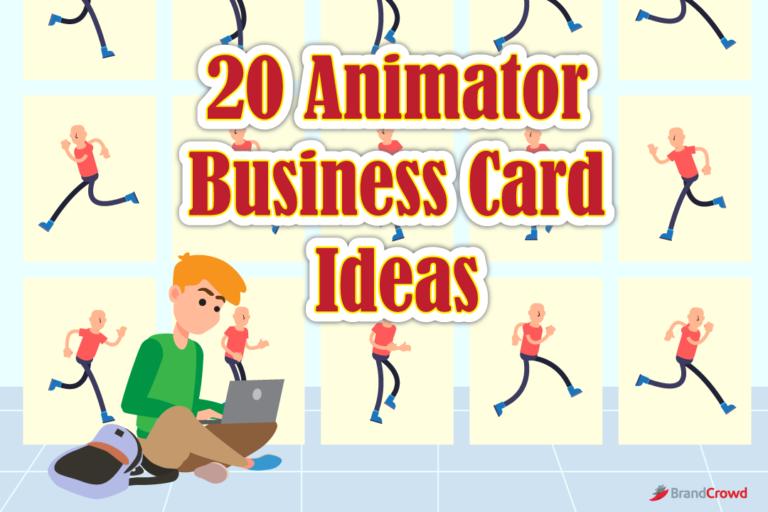 20 Animator Business Card Ideas