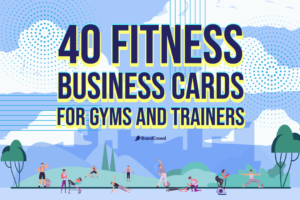 40 Fitness Business Cards for Gyms and Trainers
