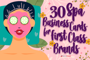 30 Spa Business Cards for First Class Brands