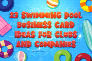 23 Swimming Pool Business Card Ideas for Clubs and Companies