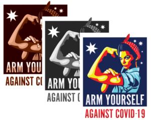 Arm Yourself Against COVID-19 Australia – Free Logo