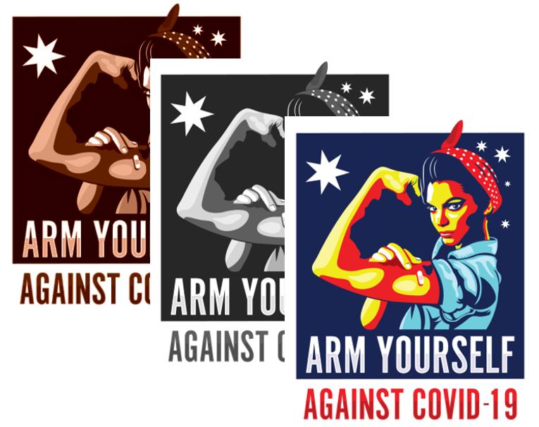 Arm Yourself Against COVID-19 Australia - Free Logo