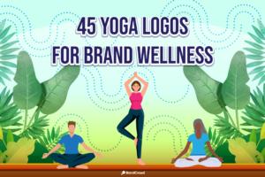 45 Yoga Logos for Brand Wellness