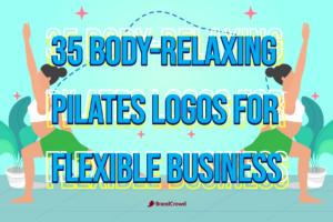 35 Body-Relaxing Pilates Logos For Flexible Pilates Business