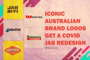 Iconic Australian Brand Logos get a COVID Jab Redesign